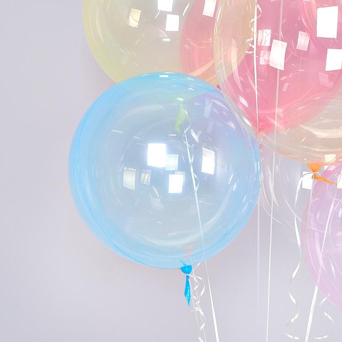 헬륨 칼라버블벌룬 18인치 블루 [차량배달] 온라인한정