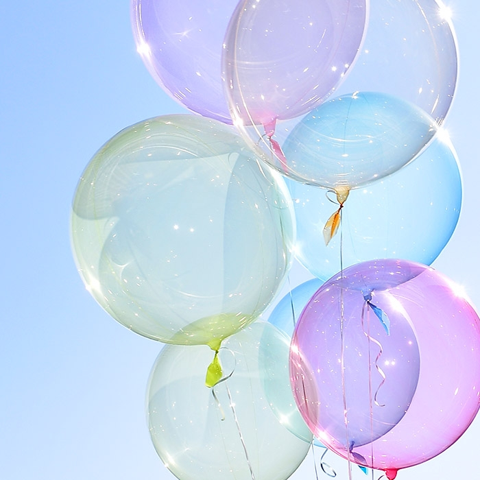 헬륨 칼라버블벌룬 24인치 옐로우