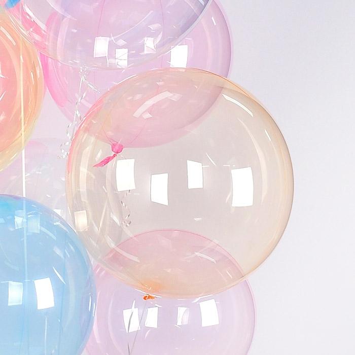 헬륨 칼라버블벌룬 24인치 오렌지