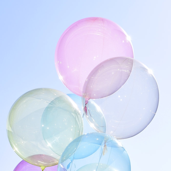 헬륨 칼라버블벌룬 24인치 핑크 [차량배달] 온라인한정