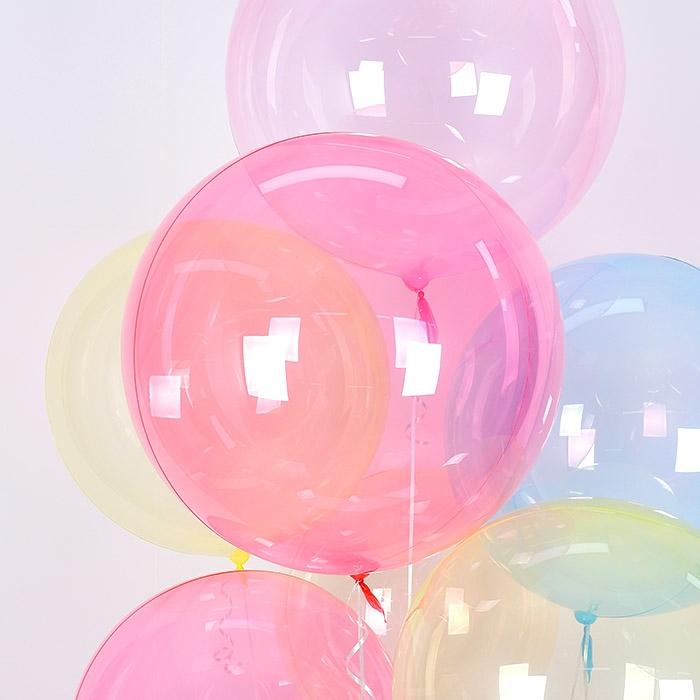 헬륨 칼라버블벌룬 24인치 레드