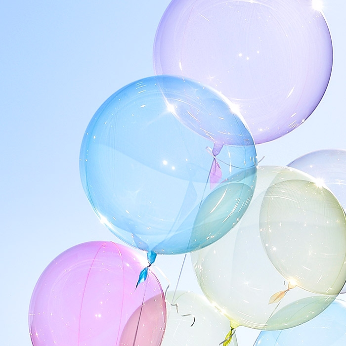 헬륨 칼라버블벌룬 24인치 블루