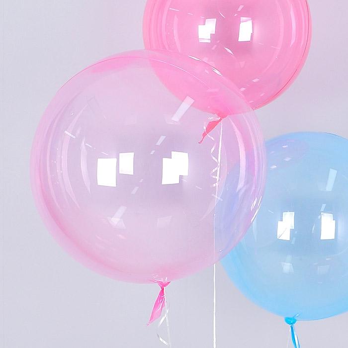 헬륨 칼라버블벌룬 30인치 핑크 [차량배달] 온라인한정