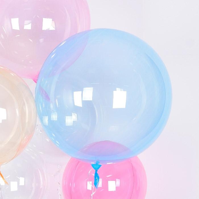 헬륨 칼라버블벌룬 30인치 블루