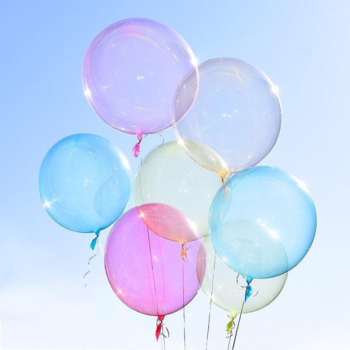 헬륨 칼라버블벌룬 15종 (18/24/30인치) 온라인한정