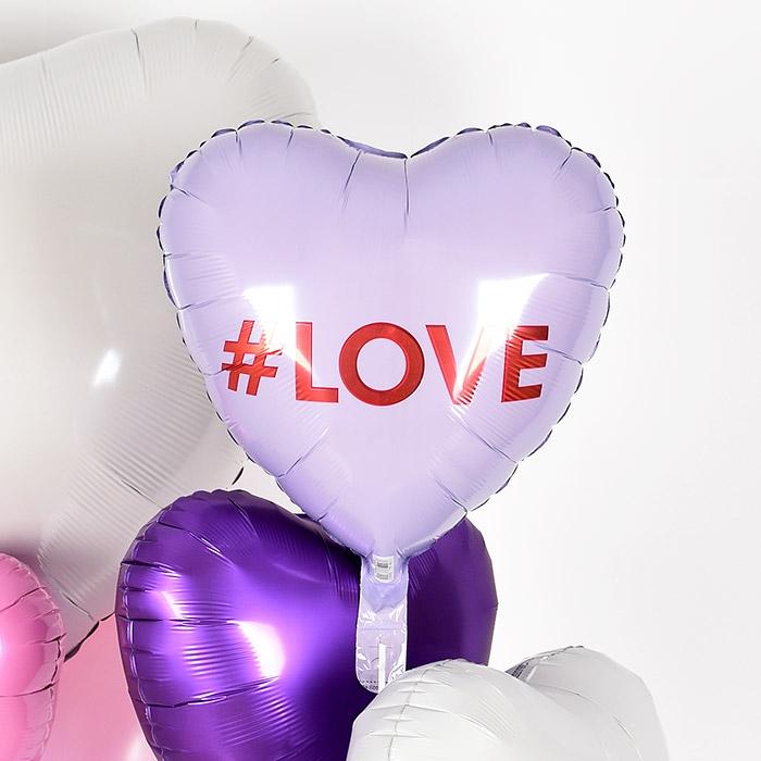 은박헬륨풍선 하트 18인치 해시태그 LOVE [차량배달] 온라인한정