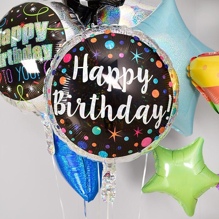 생일은박풍선 18인치 polka dot birthday