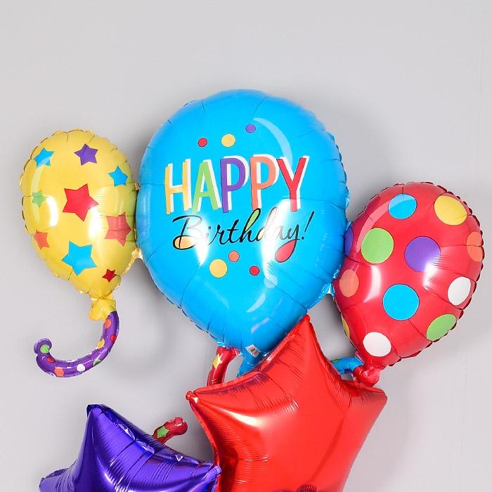 생일은박헬륨풍선 풍선클러스터 슈퍼쉐입 [차량배달] 온라인한정