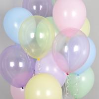 천장풍선세트 크리스탈 파스텔 메이트 혼합 (풍선20개+컬링리본+스폰지닷) 온라인한정