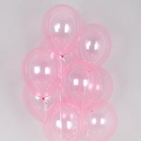 헬륨풍선 크리스탈 파스텔 핑크 10개묶음