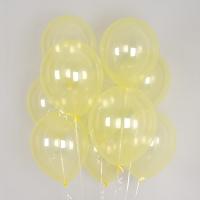 헬륨풍선 크리스탈 파스텔 옐로우 10개묶음