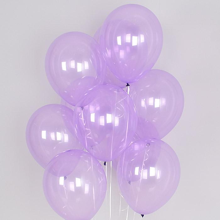 헬륨풍선 크리스탈 파스텔 라일락 10개묶음 [차량배달] 온라인한정