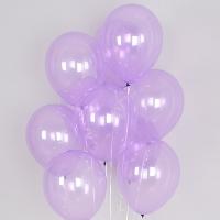헬륨풍선 크리스탈 파스텔 라일락 10개묶음