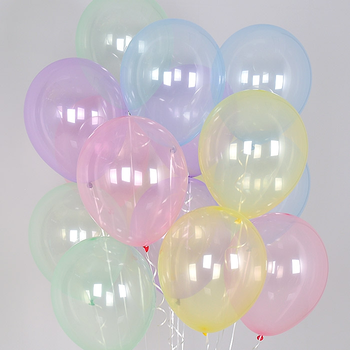 헬륨풍선 크리스탈 파스텔 혼합 10개묶음 [차량배달] 온라인한정