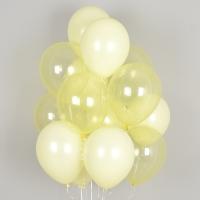 헬륨풍선 크리스탈 파스텔 메이트 옐로우톤 10개묶음 [차량배달] 온라인한정