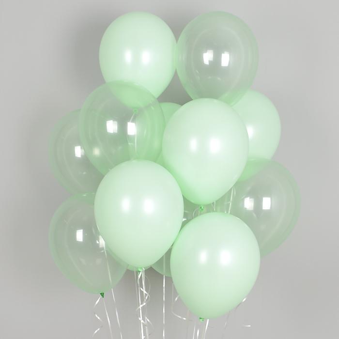 헬륨풍선 크리스탈 파스텔 메이트 그린톤 10개묶음 [차량배달] 온라인한정