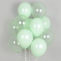 헬륨풍선 크리스탈 파스텔 메이트 그린톤 10개묶음