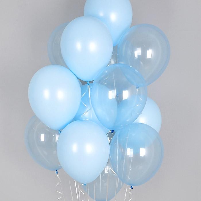 헬륨풍선 크리스탈 파스텔 메이트 블루톤 10개묶음 [차량배달] 온라인한정