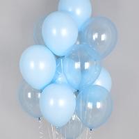 헬륨풍선 크리스탈 파스텔 메이트 블루톤 10개묶음 [차량배달]