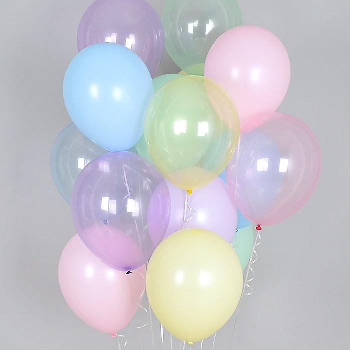 헬륨풍선 크리스탈 파스텔 메이트 혼합 20개묶음 [차량배달] 온라인한정