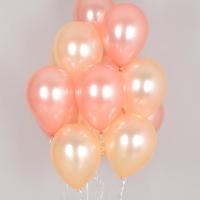 헬륨풍선 펄로즈골드앤 펄피치 10개묶음 [차량배달] 온라인한정