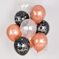 헬륨풍선 생일 메탈잉크실버 혼합 10개묶음 [차량배달] 온라인한정