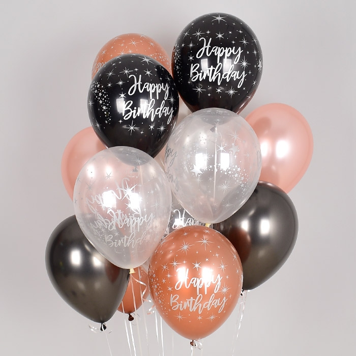 헬륨풍선 생일 메탈잉크 혼합 10개묶음 [차량배달] 온라인한정