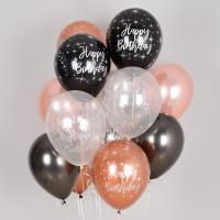 헬륨풍선 생일 메탈잉크 혼합 10개묶음