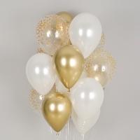 헬륨풍선 크롬앤 골든컨페티 혼합 10개묶음 [차량배달] 온라인한정