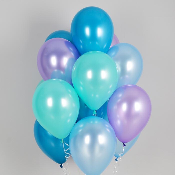 헬륨풍선 머메이드 4색혼합 10개묶음 [차량배달]