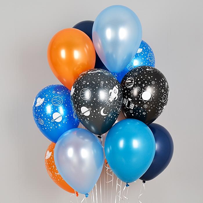 헬륨풍선 스페이스 펄혼합 10개묶음 [차량배달] 온라인한정
