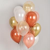 헬륨풍선 골든 컨페티앤 쿠퍼 5색혼합 10개묶음