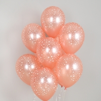 헬륨풍선 별무늬 펄로즈골드 10개묶음 [차량배달] 온라인한정