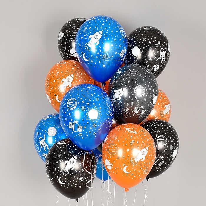 헬륨풍선 스페이스 펄4색혼합 10개묶음 [차량배달]
