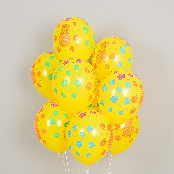 헬륨풍선 트로피칼 파인애플 옐로우 10개묶음 [차량배달] 온라인한정