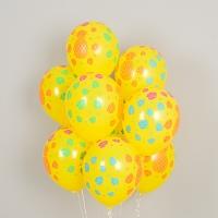헬륨풍선 트로피칼 파인애플 옐로우 10개묶음