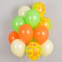 헬륨풍선 트로피칼 파인애플 옐로우톤 10개묶음 [차량배달] 온라인한정