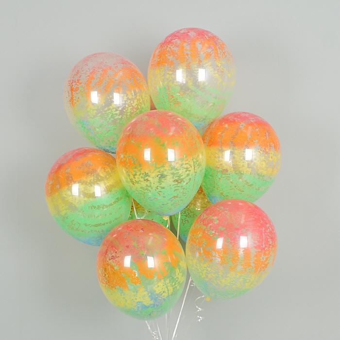 헬륨풍선 그래피티 레인보우 5개묶음 [차량배달]