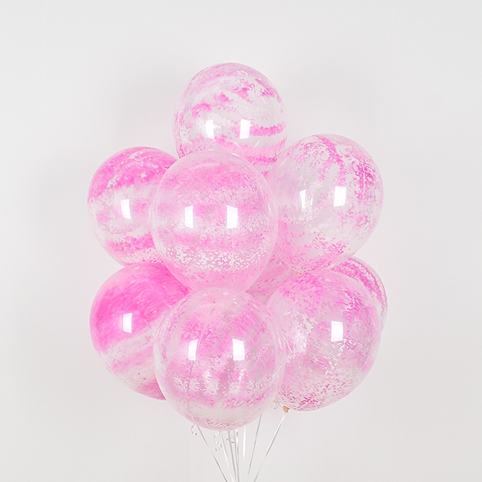 헬륨풍선 그래피티 핑크 5개묶음 [차량배달]