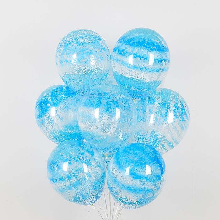 헬륨풍선 그래피티 스카이 5개묶음 [차량배달]