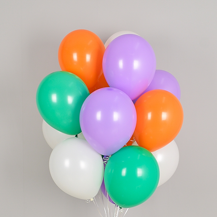 헬륨풍선 컬러풀 할로윈 4색혼합 10개묶음