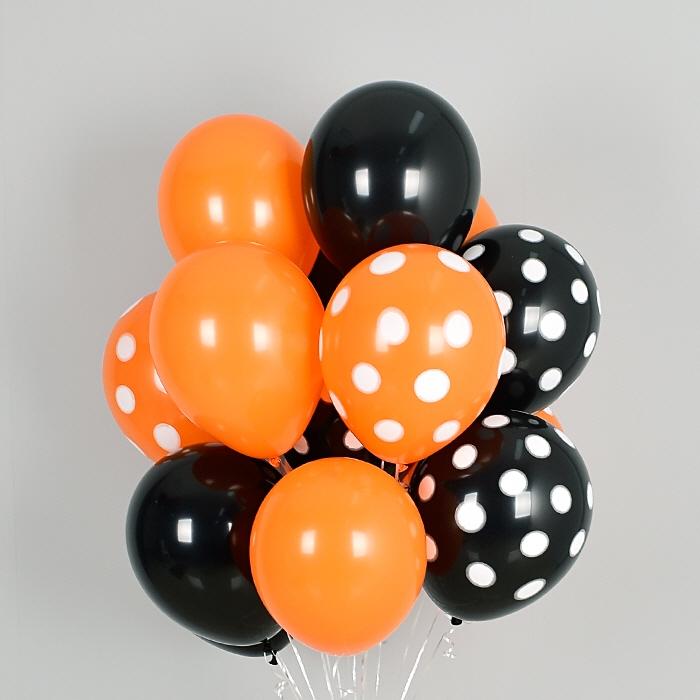 헬륨풍선 할로윈 도트혼합 10개묶음 [차량배달] 온라인한정