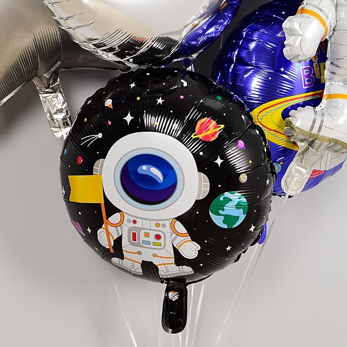생일은박풍선 라운드 18인치 우주비행사