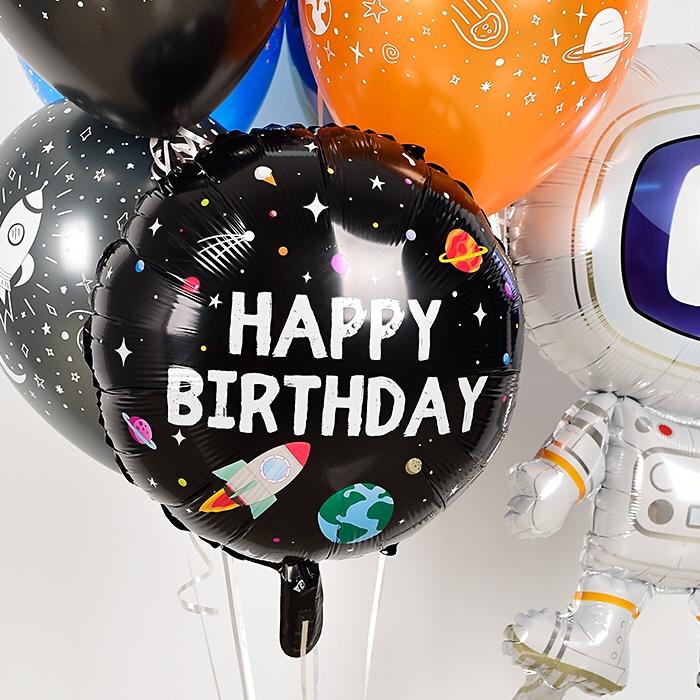 생일은박헬륨풍선 라운드 18인치 우주비행사 [차량배달] 온라인한정