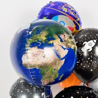 은박헬륨풍선 20인치 지구 [차량배달] 온라인한정