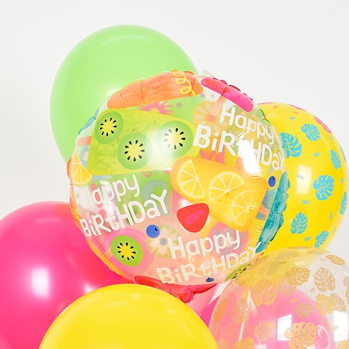생일은박헬륨풍선 라운드 18인치 투명플라워 [차량배달] 온라인한정