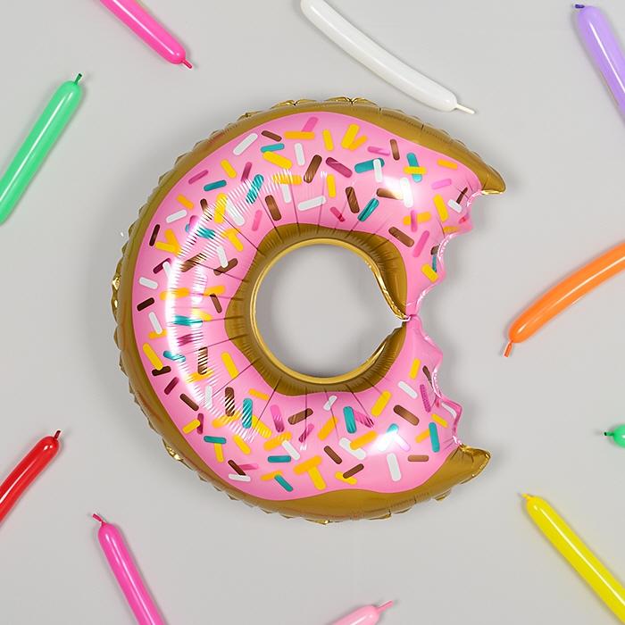 은박풍선 도우넛 핑크
