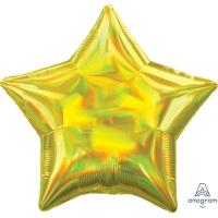 은박풍선 별 19인치 이리데슨트 옐로우