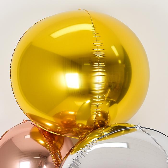 미러은박 헬륨풍선 4D 32인치 골드 [차량배달]