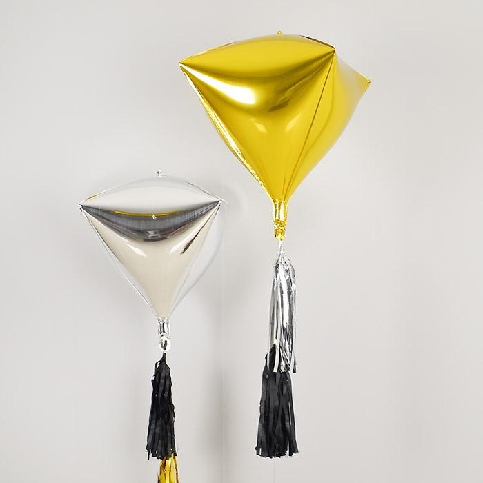 헬륨은박풍선 4D 다이아 골드 [차량배달]